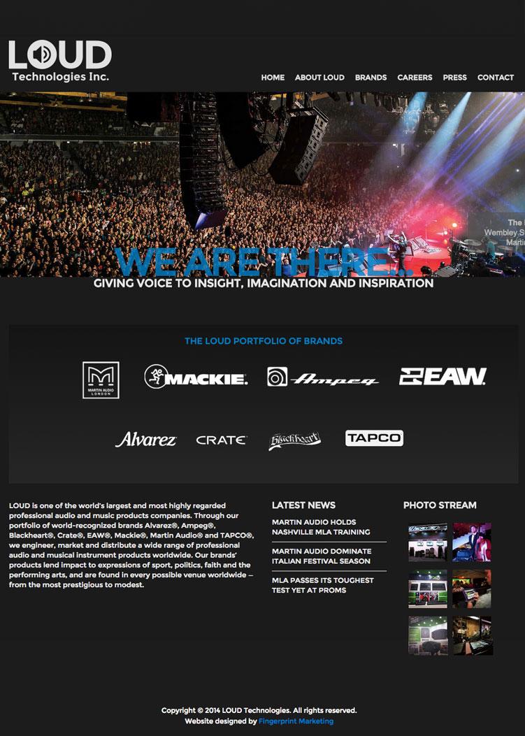 Sample website screenshot